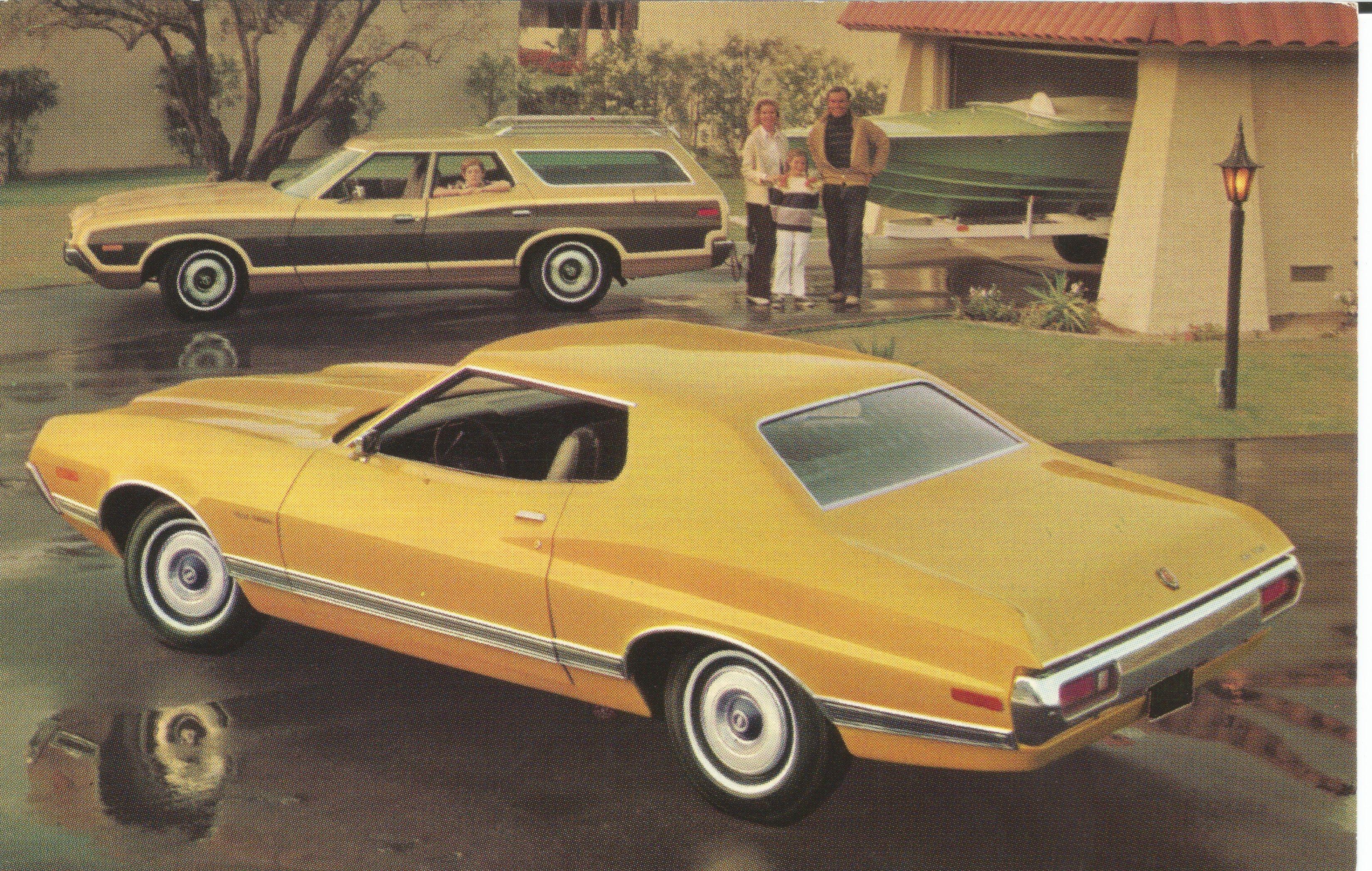 1972 Ford Gran Torino 2 Door Hardtop Formal 1972 Gran Torino Squire Station Wagon Ford Torino Ford Motor Ford