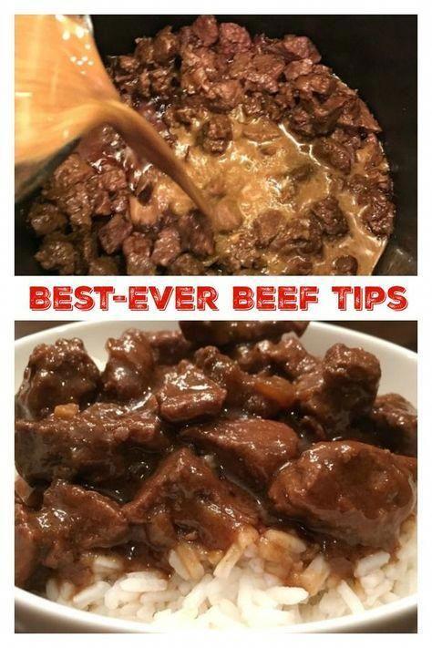Best-Ever Beef Tips #beefdishes