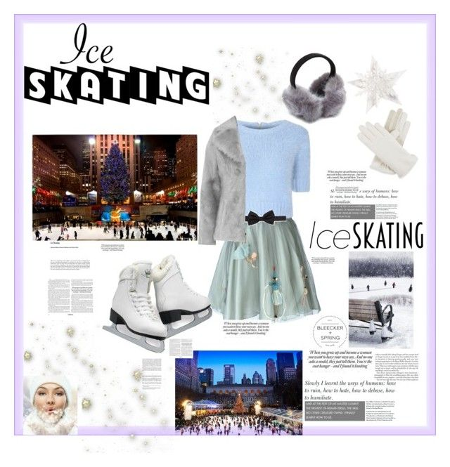 """""""Ice Skating Style! #ContestEntry"""" by melisastephens ❤ liked on Polyvore featuring RED Valentino, Glamorous, Lanvin and Isotoner"""