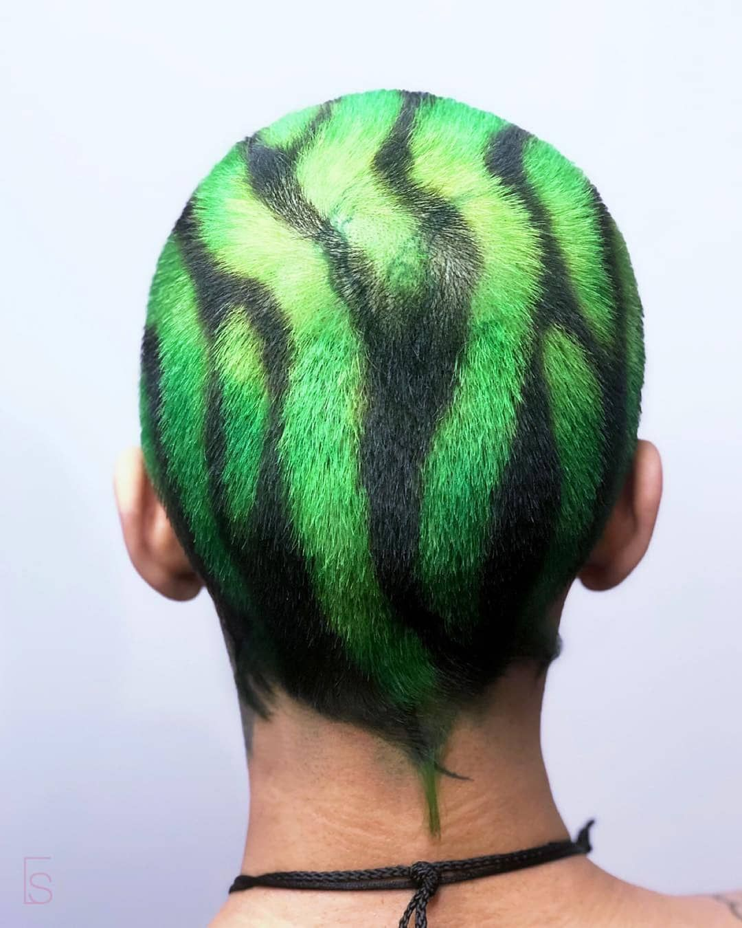 Salon Republic On Instagram Neon Green Zebra Bringing The Heat With This One It Really Packs A Punch Me Dyed Hair Men Green Hair Men Hair Color