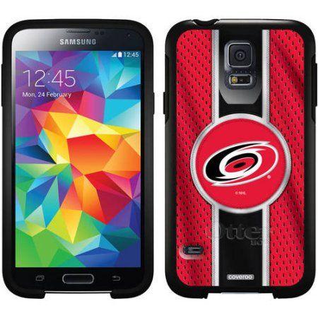 Carolina Hurricanes Jersey Stripe Design on OtterBox Symmetry Series Case for Samsung Galaxy S5