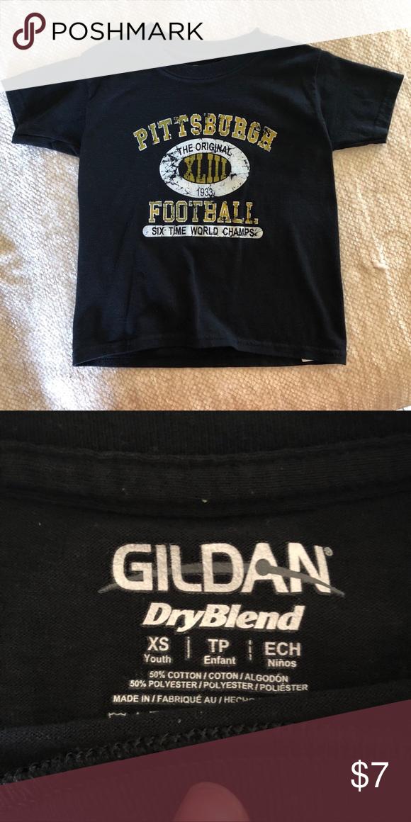 d1a15858a Pittsburgh Steelers T-shirt Kids XS Pittsburgh Steelers shirt Gildan Shirts    Tops Tees - Short Sleeve