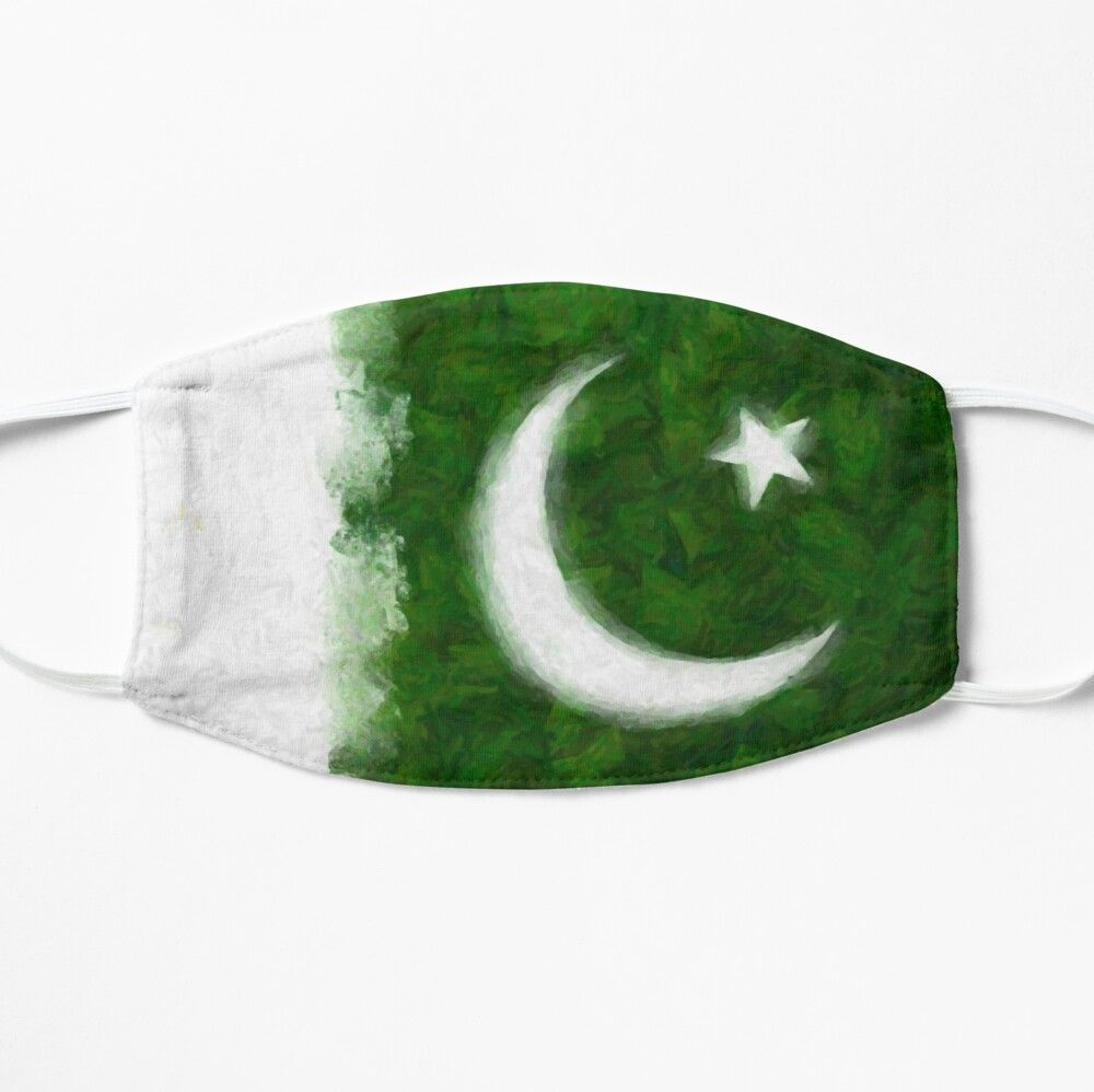 Artistic Rendition Of Flag Of Pakistan Mask By Tonbbo Pakistan Flag Happy Independence Day Pakistan National Flag
