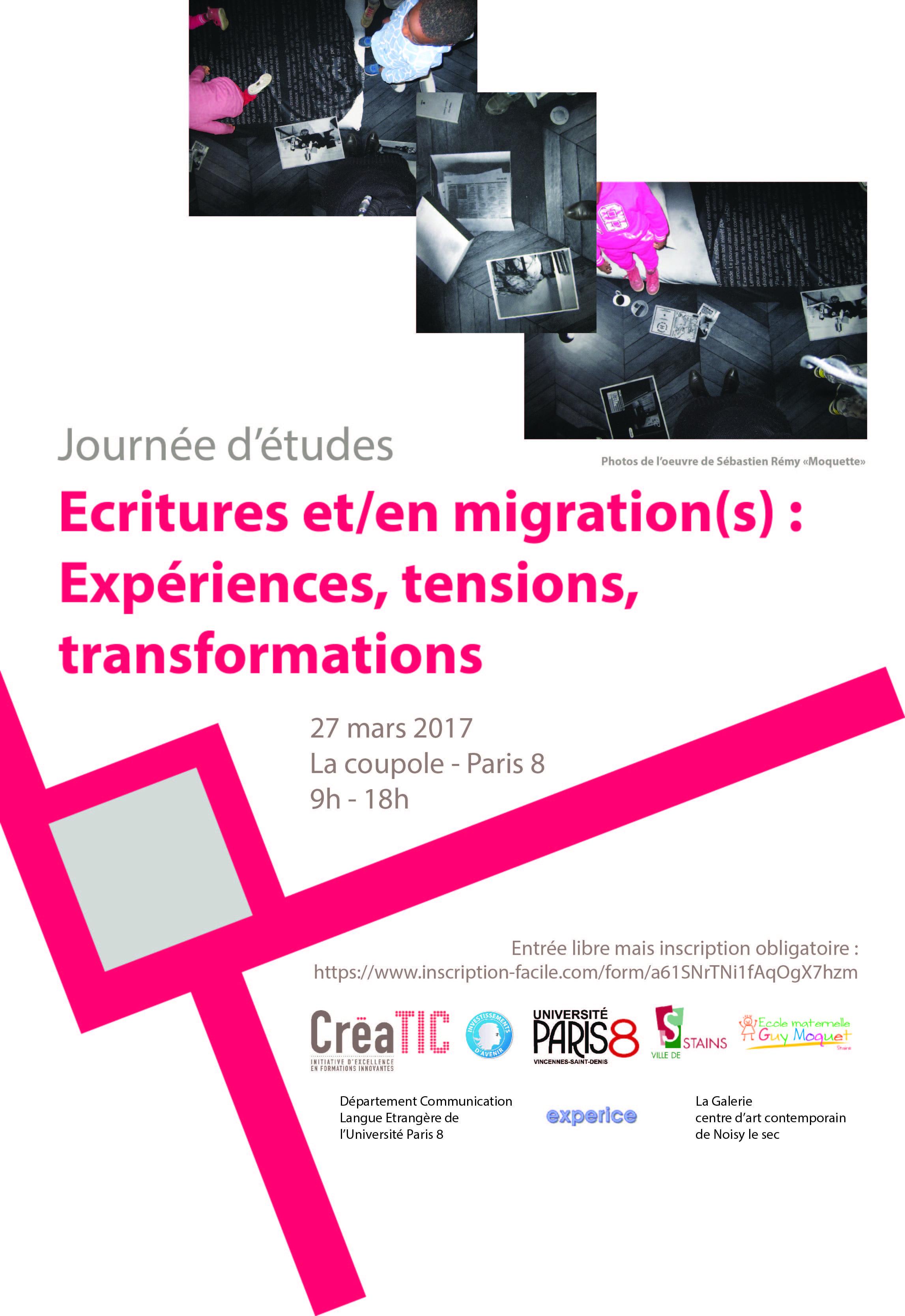 La Journée d'études « Écritures et/en migration(s