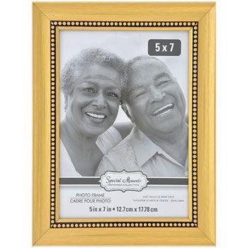 Bulk Special Moments Beaded Inner Edge Gold Plastic Picture Frames ...