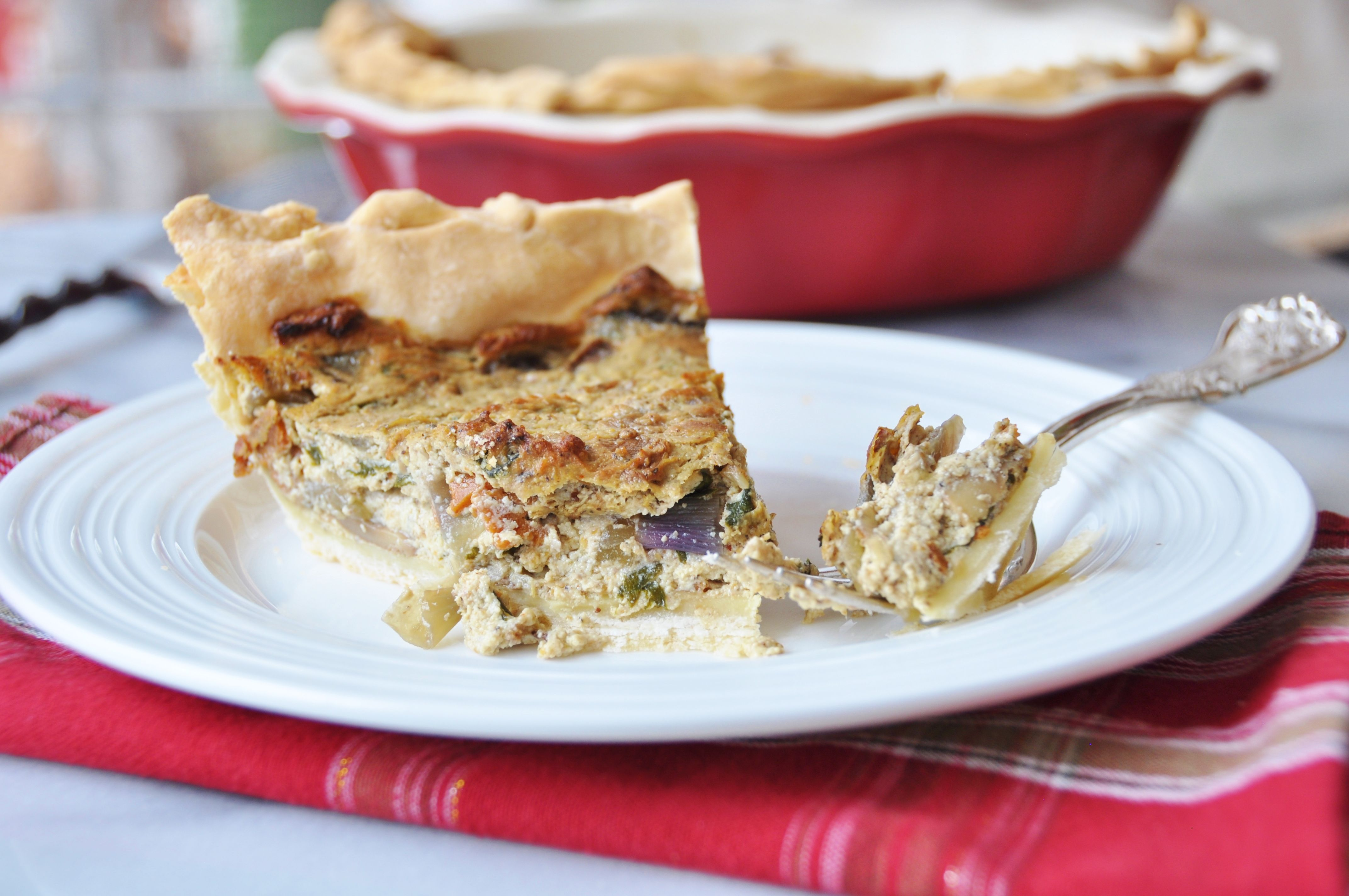 Vegan Spinach And Mushroom Quiche Vegan Dishes Delicious Vegan Recipes Raw Vegan Recipes