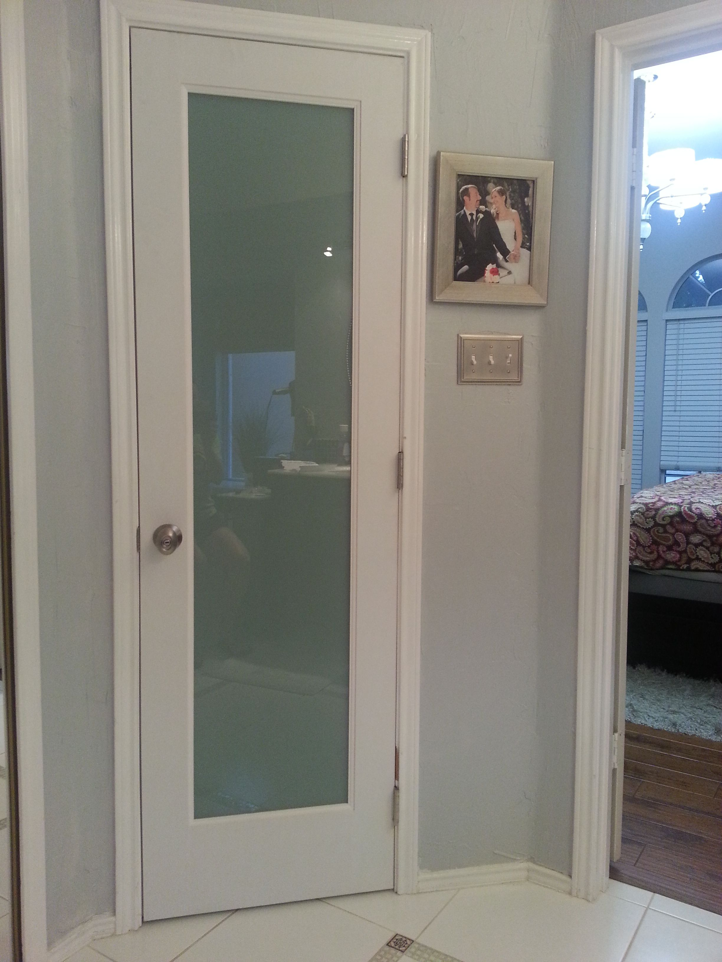 Let In The Light Water Closet Door With Privacy Glass House