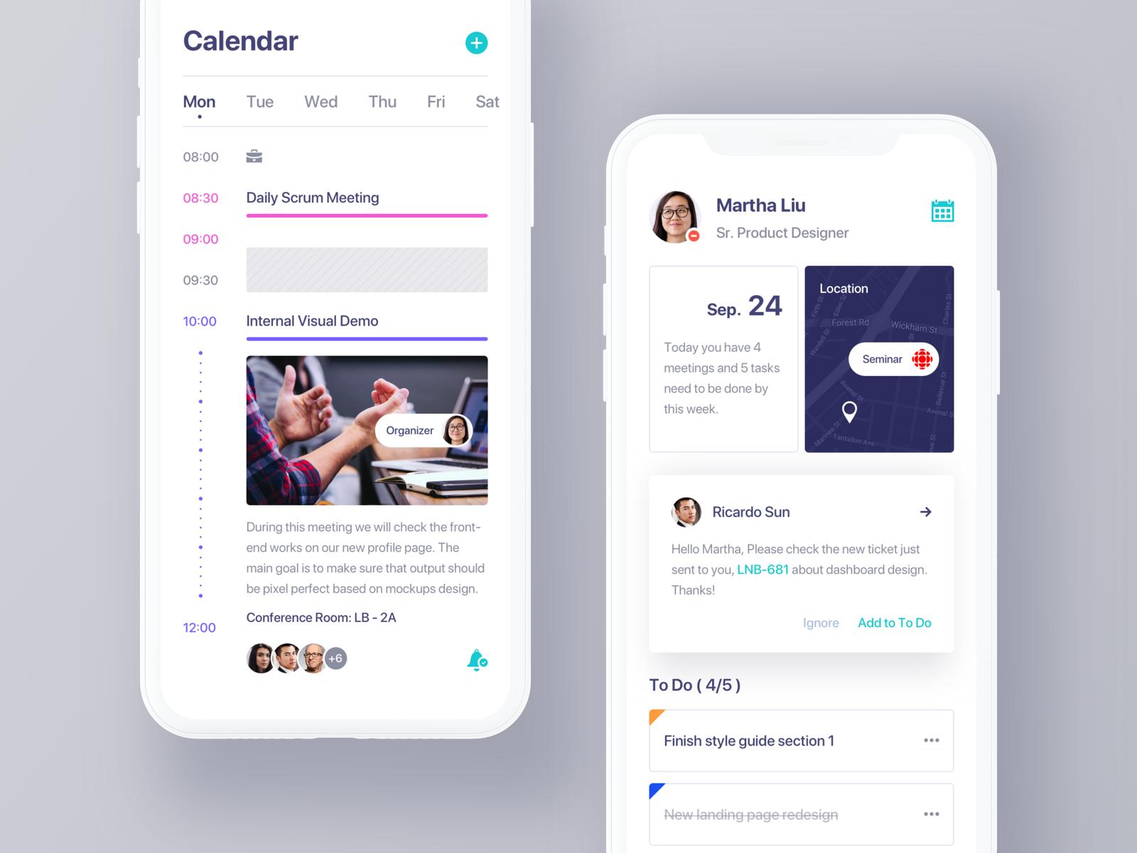 Calendar App. Calendar app, Creative calendar, Ios app