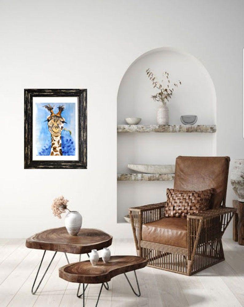 Giraffe Painting 16x12 Original Watercolor Safari   Etsy