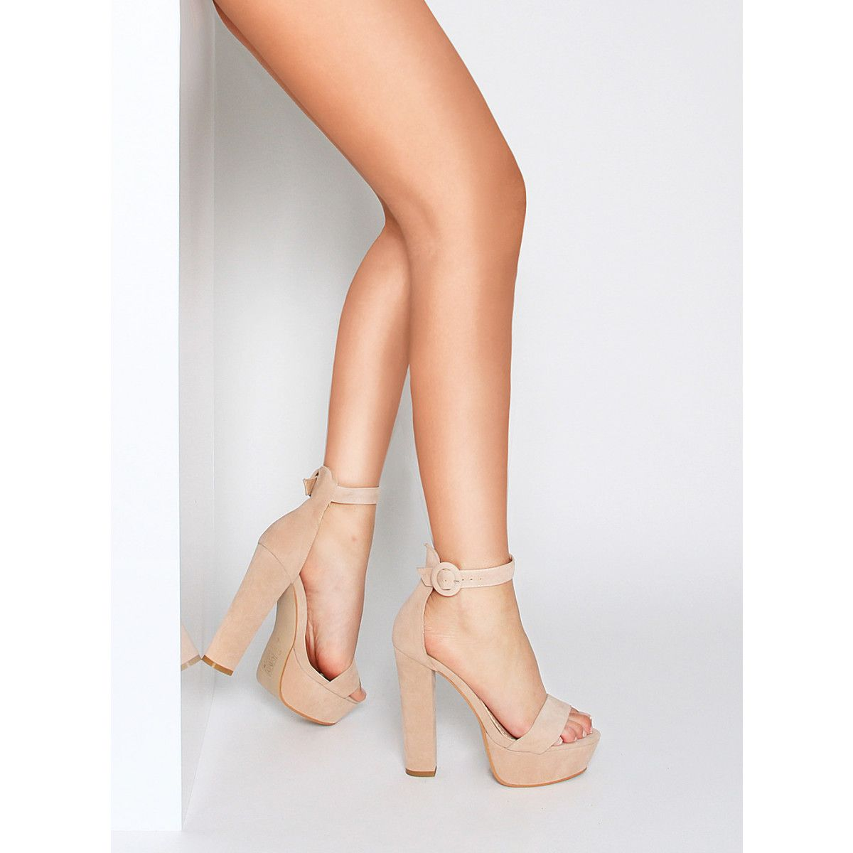 bce5e12095c Tamika Nude Suede Platform Block Heels : Simmi Shoes | Dress Me Up ...