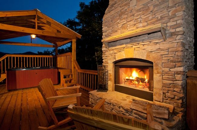 Celtic Clouds Cabin Rentals Of Georgia Outdoor Wood Burning Fireplace Cabin Outdoor Fireplace