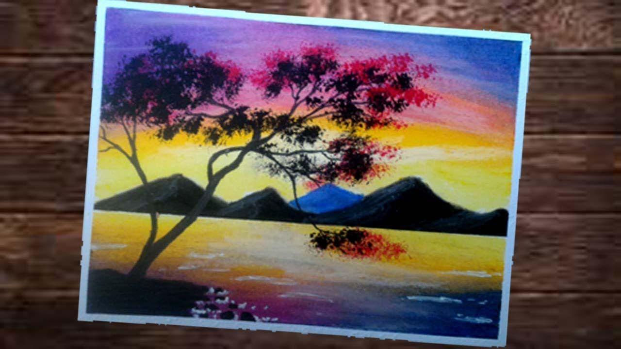 Cara Menggambar Dan Gradasi Langit Sore Dengan Crayon Buat