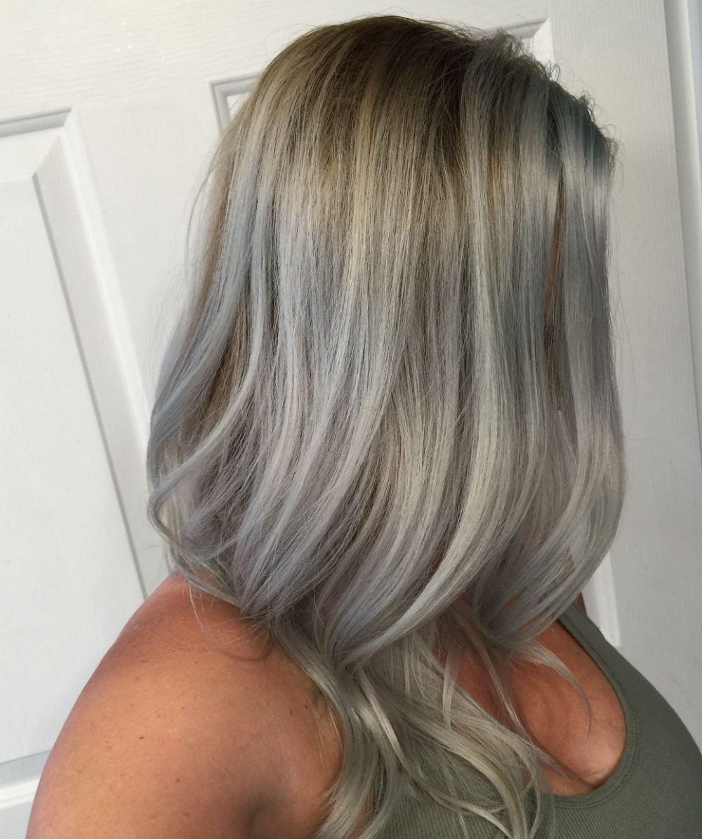 Gray Hair With Purple Highlights The Best Silver Mink