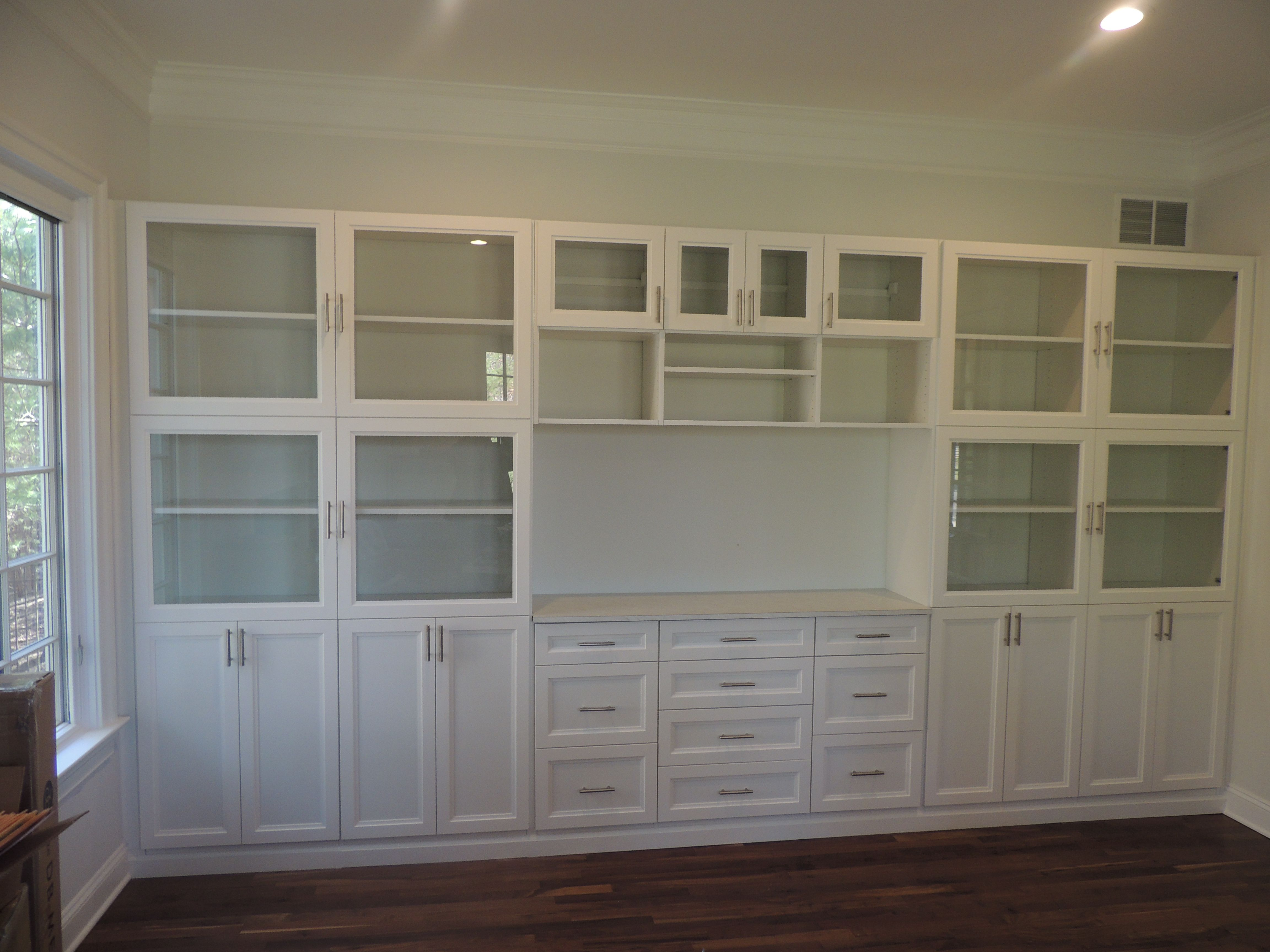 White Shaker Cabinet Wall Unit For A Home Office Lots Of