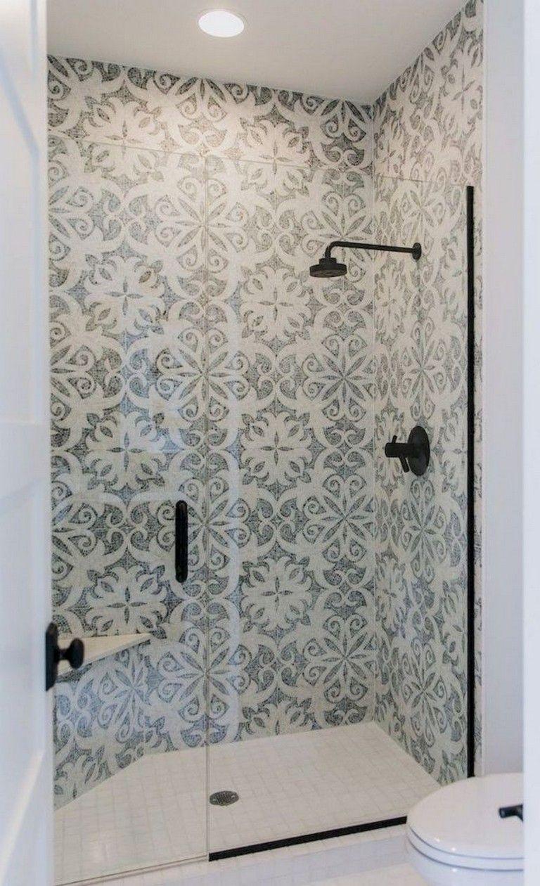 40 Elegant Farmhouse Shower Tiles Ideas Showers Showerideas Showerdesign Simple Bathroom Designs Farmhouse Shower Tile Remodel