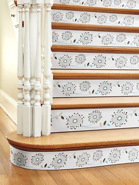Peel Stick Borders Stair Riser Cover Up Stairway Accents Solutions Solutions Diy Flooring Staircase Styles Indoor Decor