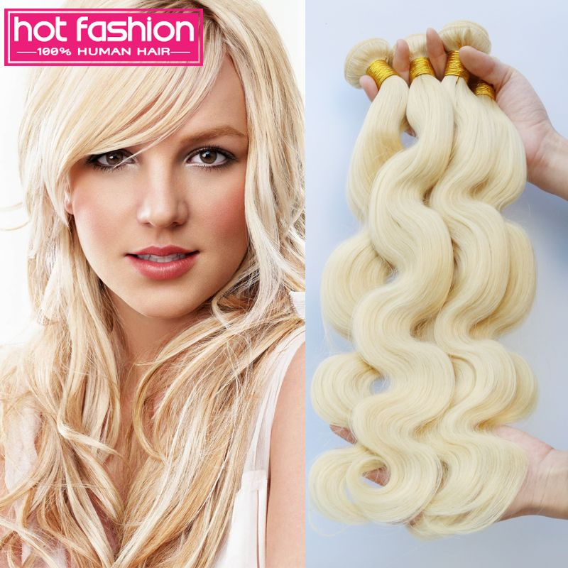 Find More Human Hair Extensions Information About 7a 613 Blonde