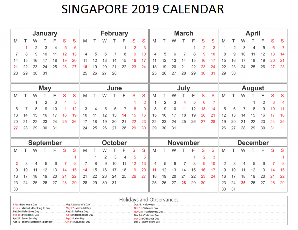 singapore 2019 holidays calendar 2019 calendars. Black Bedroom Furniture Sets. Home Design Ideas
