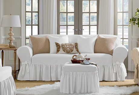 Delightful I Would Like These In Both Sofa And Love Seat Size, Color White. Sure Fit  Slipcovers Essential Twill One Piece Slipcovers   Sofa