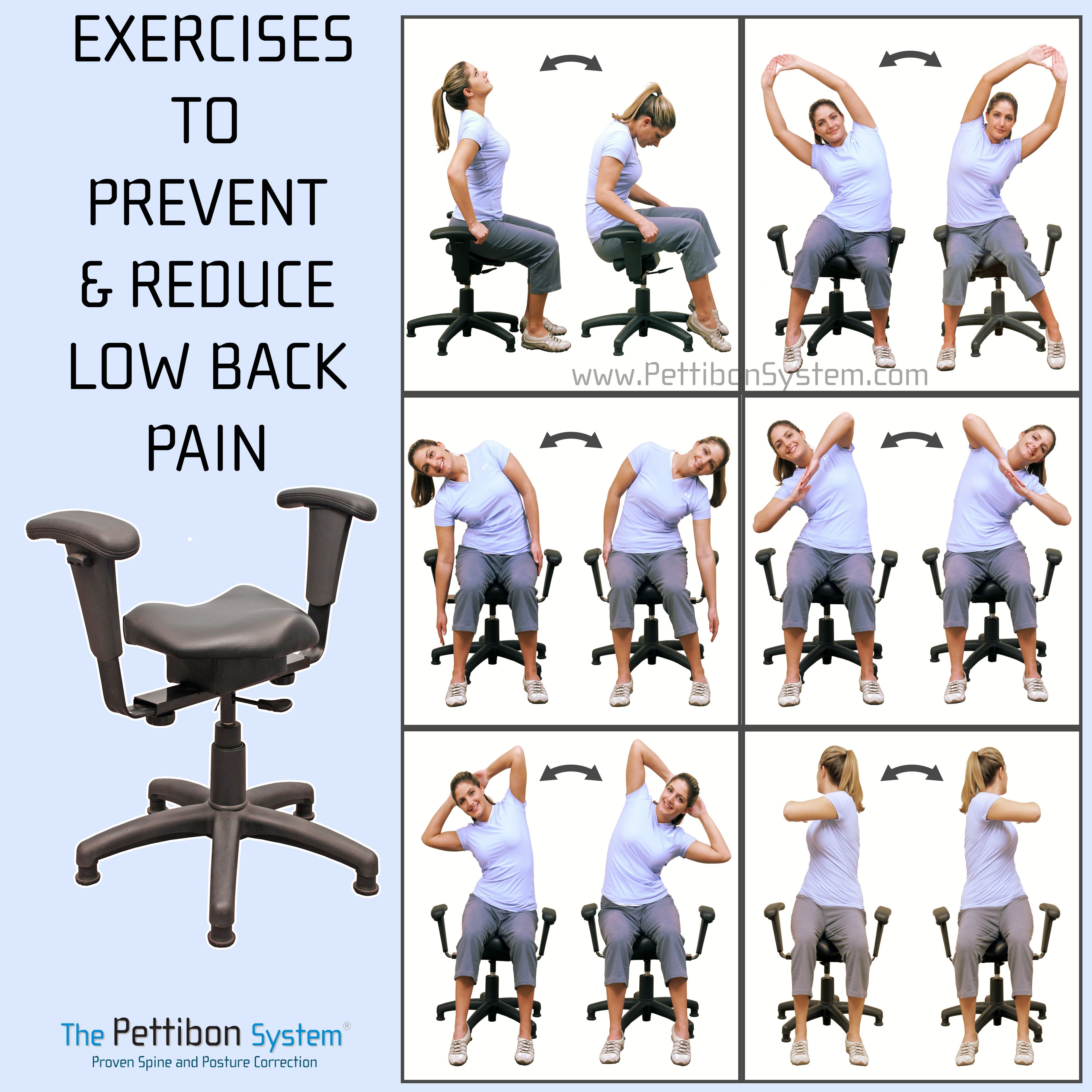 Amazing stretches for Back Pain Relief The Wobble Chair helps