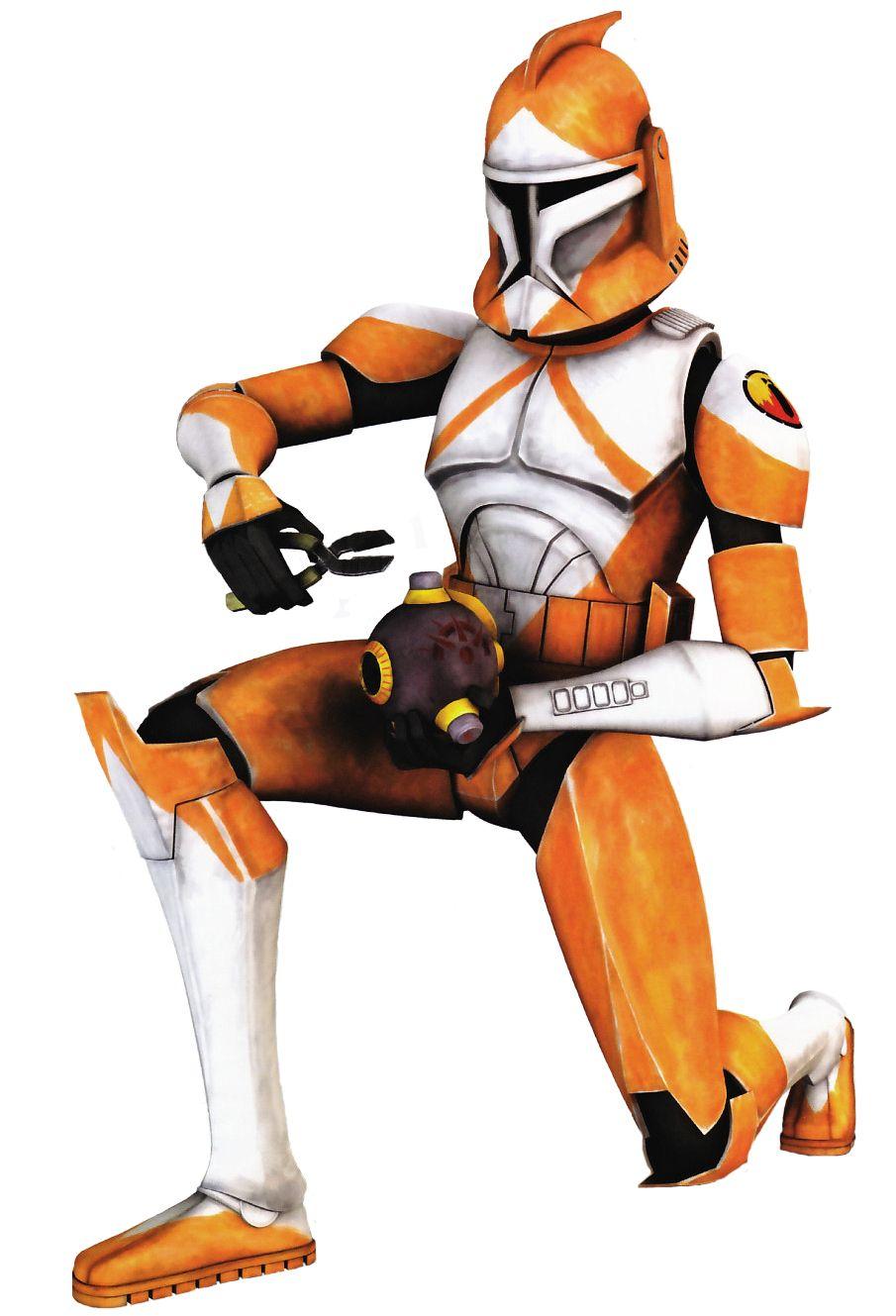 Star Wars Galactic Heroes Phase 1 Orange Clone Trooper