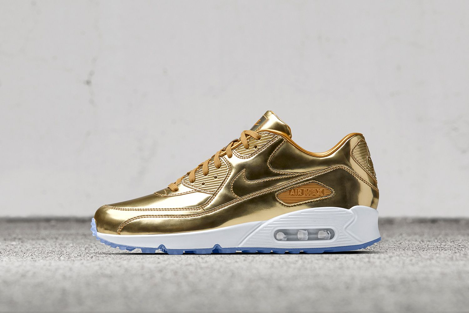 the best attitude 7bb38 b7f3a Deck out the Air Force 1 and Air Max 90 in metallic gold, silver and bronze  medal options in honor of the Rio Olympics.