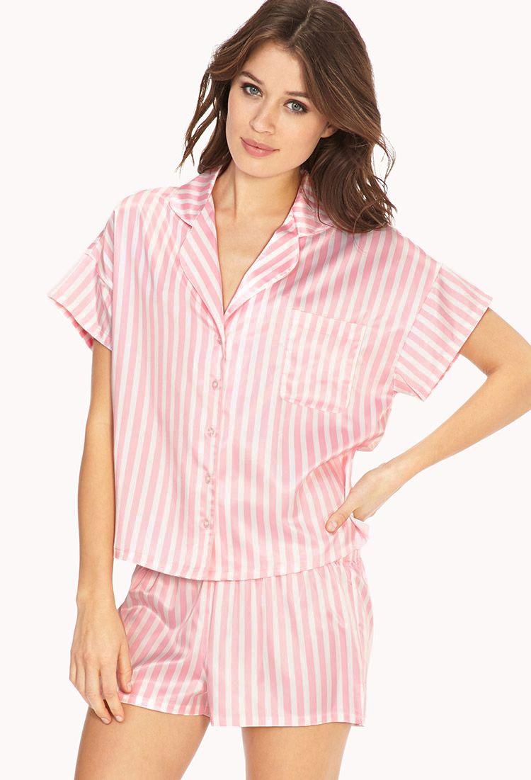 Candy Striped PJ Set  484c77b94