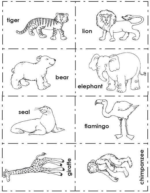 ingles-animales-zoo-3.jpg | Animals | Pinterest | Lotería, El animal ...