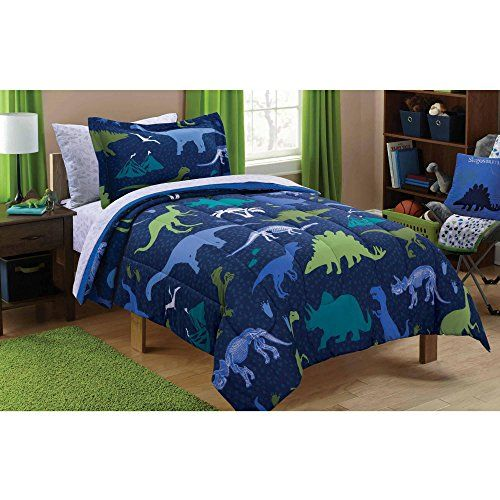 Dinosaur Planet Dino Green Blue Twin 5 Piece Bedding Set With Flashlight Dino Http Www Amazon Com Dp B017sfdvge Bed Linens Luxury Full Bedding Sets