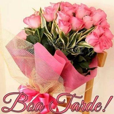 Nao E Simples Nem Facil Boa Tarde Com Flores Rosas Lindas
