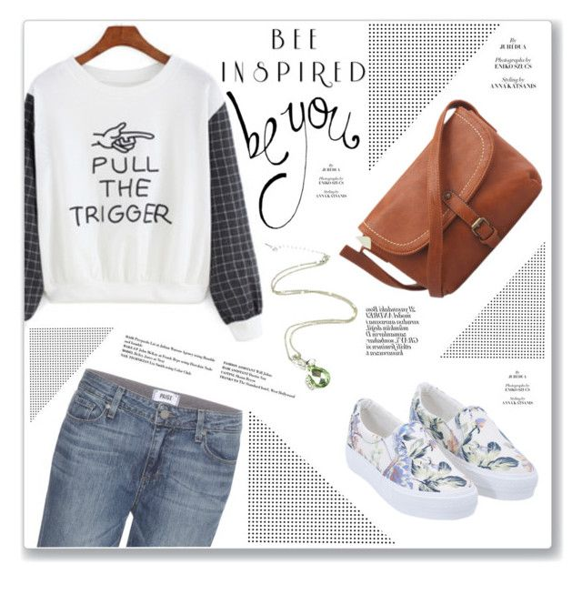 """""""I"""" by water-polo ❤ liked on Polyvore featuring Paige Denim and polyvoreeditorial"""