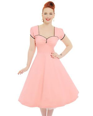 'Bella' Peach Swing Dress