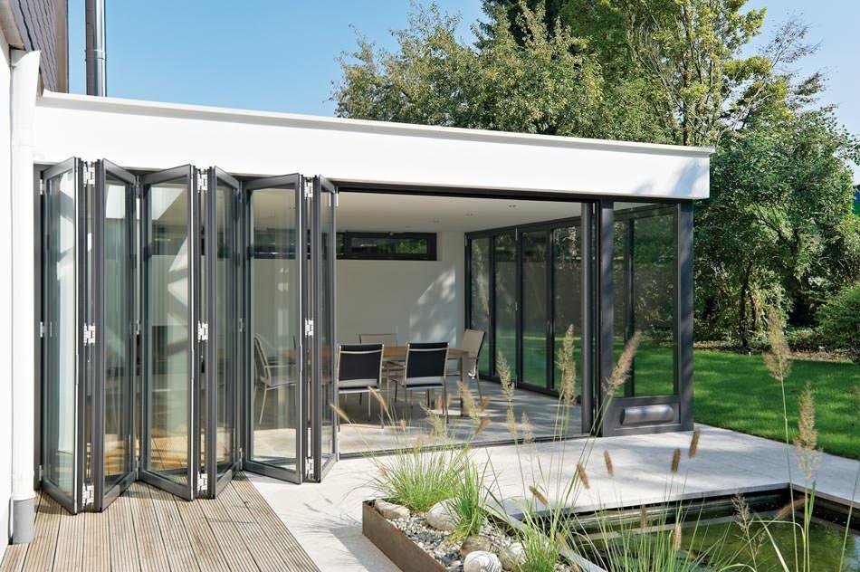 Harmonica deuren serre idee rob pinterest projecten deuren en schuifdeuren - Moderne woning buiten lay outs ...