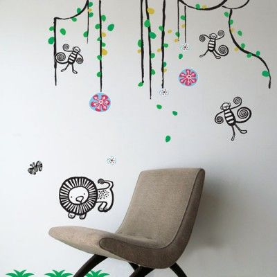 wee gallery jungle wall stickers girls room wall decor pinterest