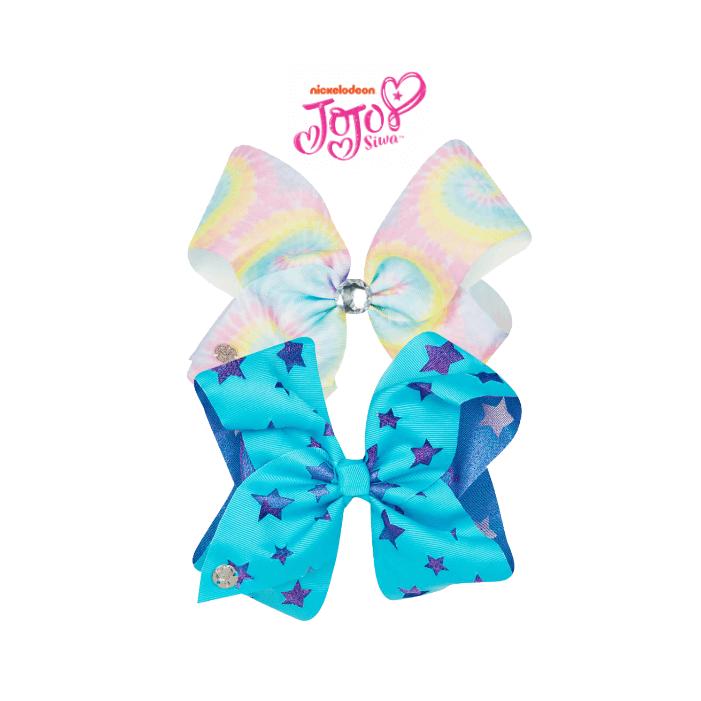 Jojo Siwa Bow Set Tiedye Pastel Rainb Turquoise Jojo Bows Jojo Siwa Bows Jojo Siwa