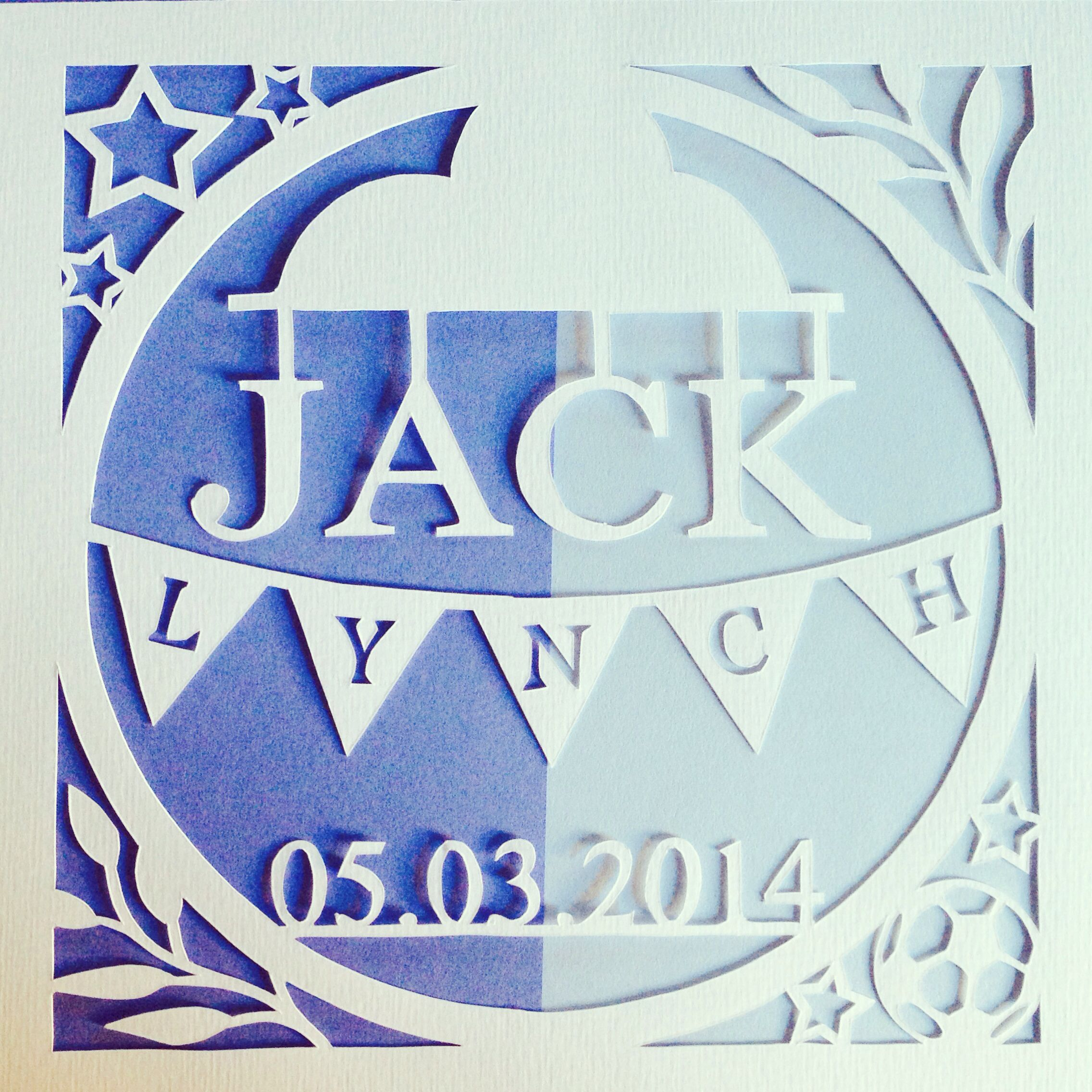 personalised paper cutting baby boy paper cutting pinterest