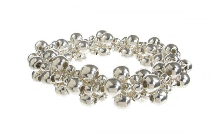 Sterling Silver Stretchy Bauble Bracelet