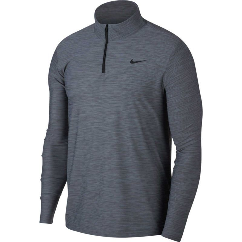 7e8dd81e Nike Men's Breathe Dry Quarter Zip Long Sleeve Shirt, Size: Medium, Cool  Grey