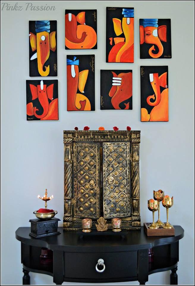 Brass Collection Indian Inspired Decor Ganesha Wall Ganesha