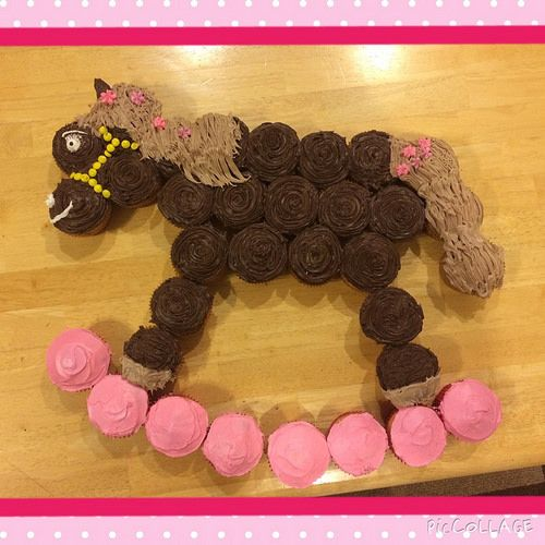 Rocking Horse cupcake Cakes Pinterest Rocking horses and Cake