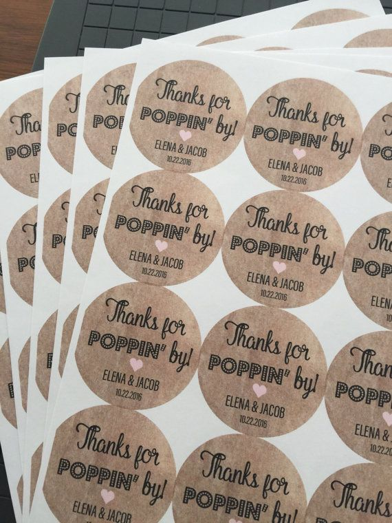 Personalised Stickers Handmade by Labels Various sizes ANY NAME Party Cocktail 2