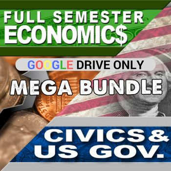 Economics Semester and Civics Semester Mega Bundle GOOGLE