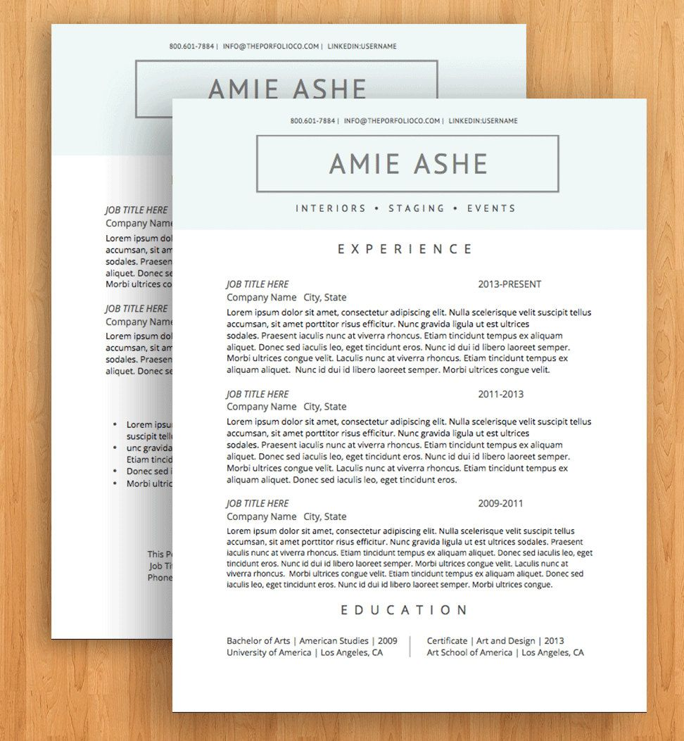 Creative Resume Templates CV Templates + Cover Letter
