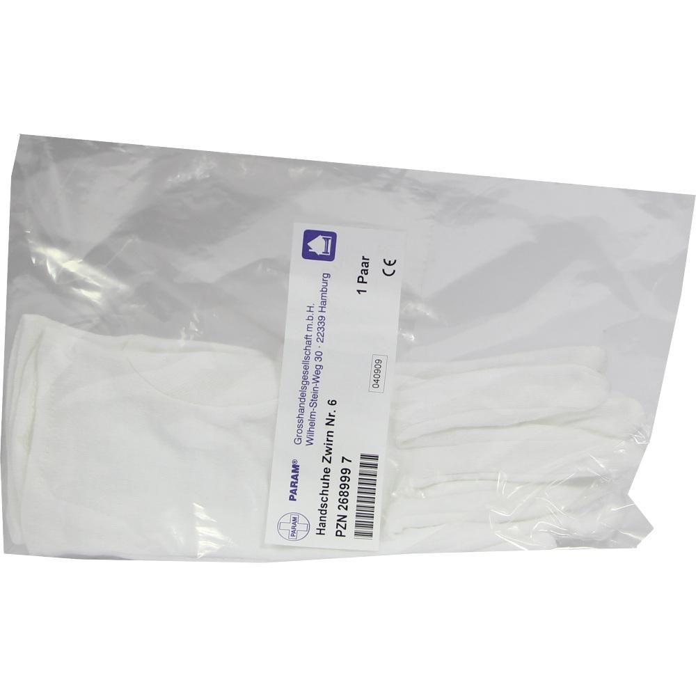 HANDSCHUHE Zwirn Grösse 6:   Packungsinhalt: 2 St Handschuhe PZN: 02689997 Hersteller: Param GmbH Preis: 1,57 EUR inkl. 19 % MwSt. zzgl.…