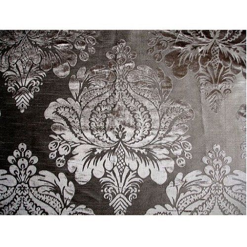 54 Wide Silver Grey Fl Damask Burnout Velvet Fabric By The Yard Arts Crafts Sewing 22 50