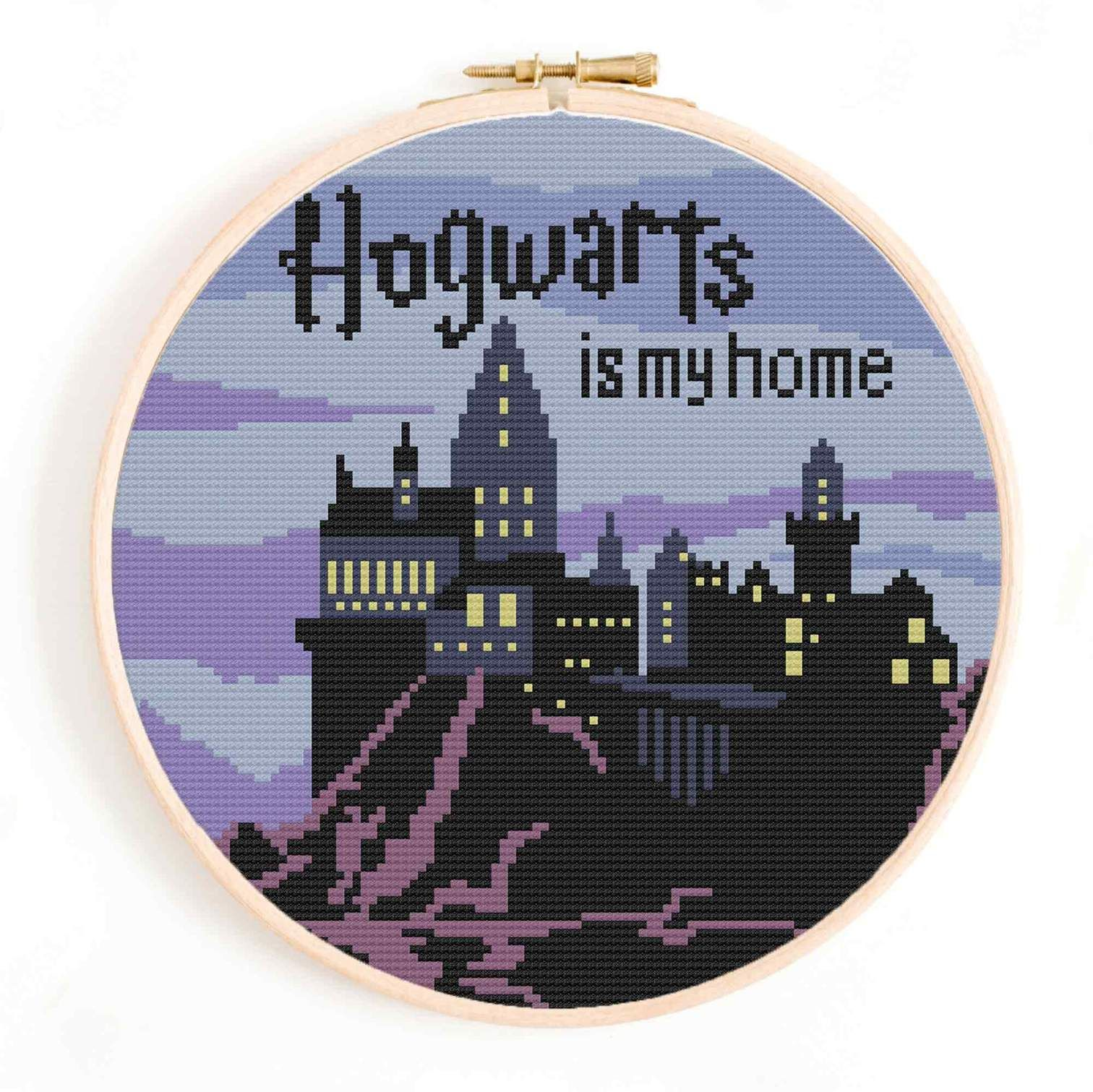 Photo of 'Hogwarts is my Home' Cross Stitch Pattern