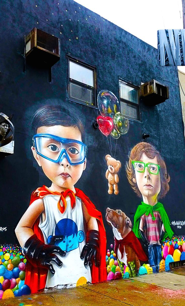 Street art du Bushwick Collective à Brooklyn à New York City. #streetart #artu…