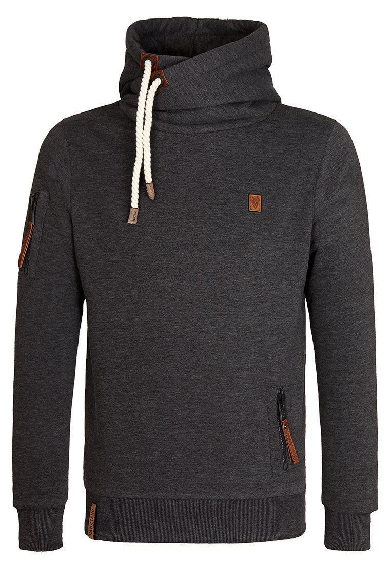 Naketano Men's Hoody PI V (L, Anthracite Melange