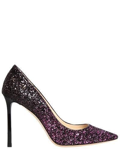 Purple Glitter Gradient Heels by Jimmy Choo
