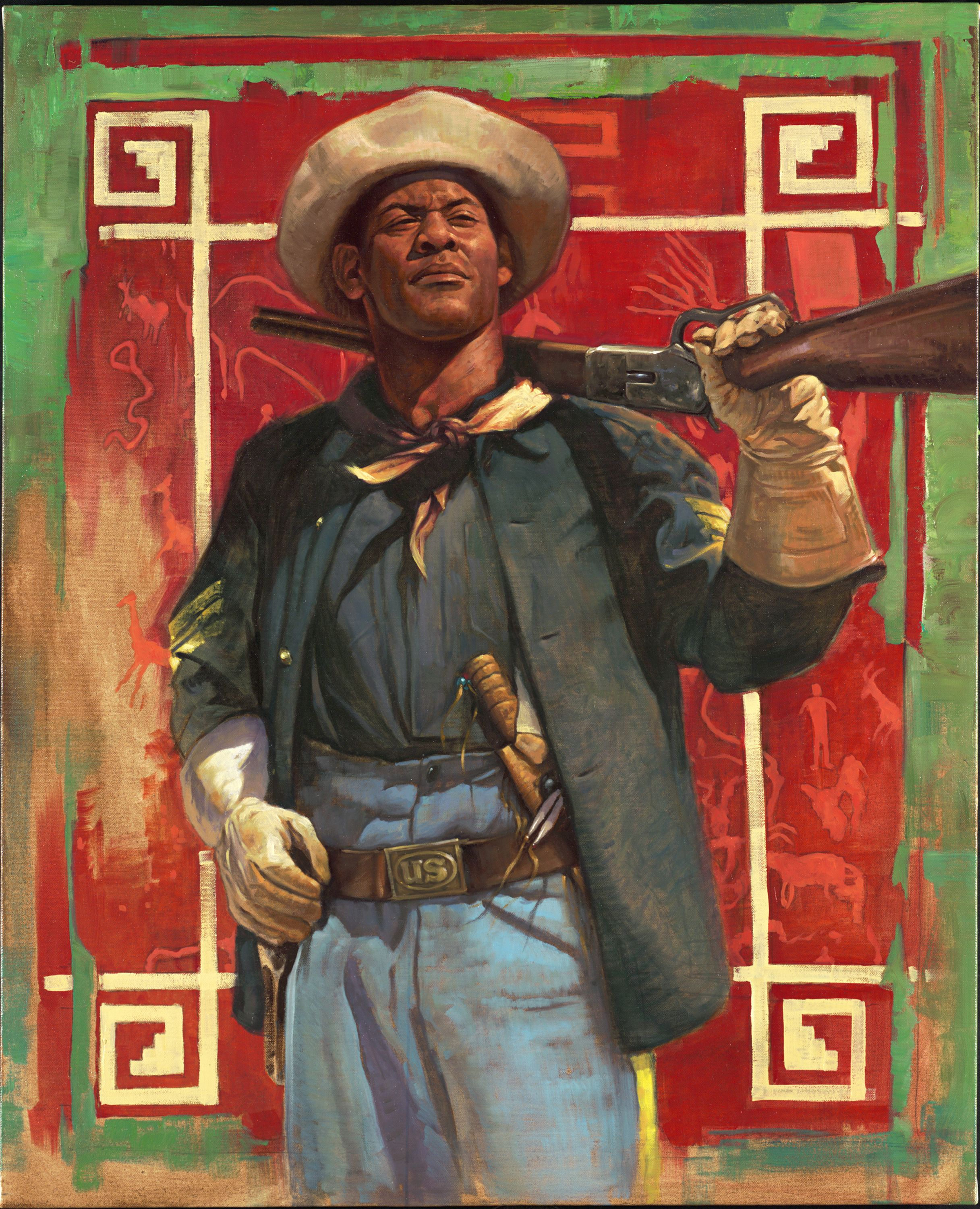 Buffalo Soldier The Trooper Black History Painting African